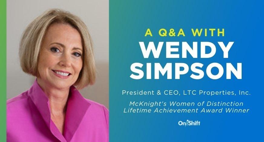 A QA With Wendy Simpson McKnights Women Of Distinction Lifetime Achievement Award Winner