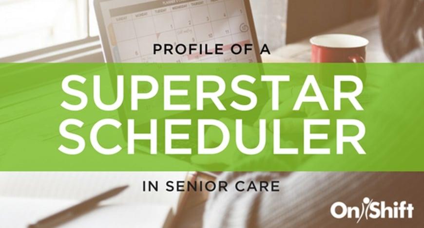 Profile of a superstar scheduler in senior car