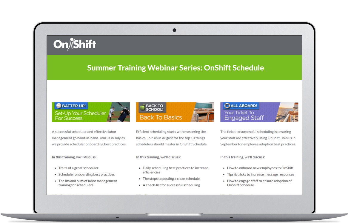 Customized training with on-demand or on-site options