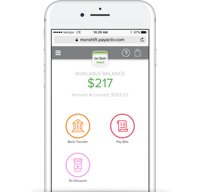 OnShift Wallet eases employee stress by giving them access to earned income