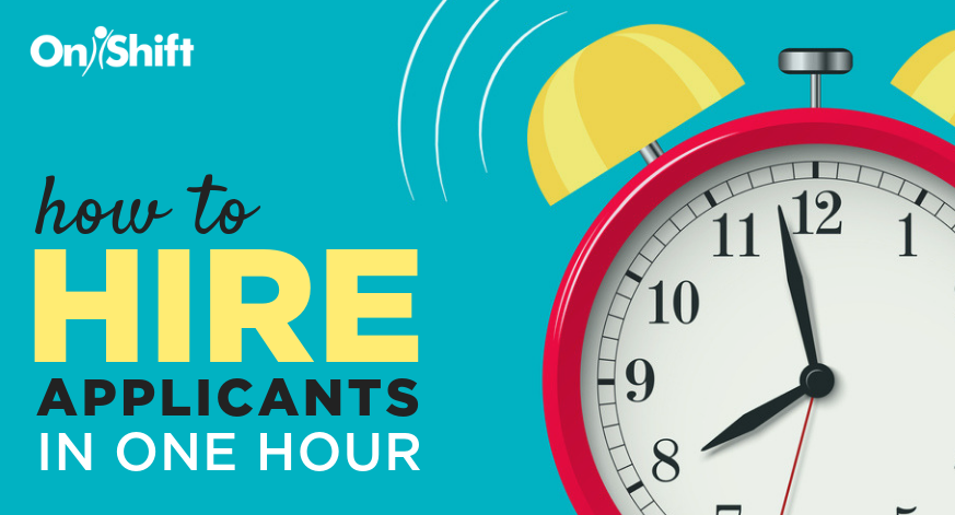 hire applicants in one hour