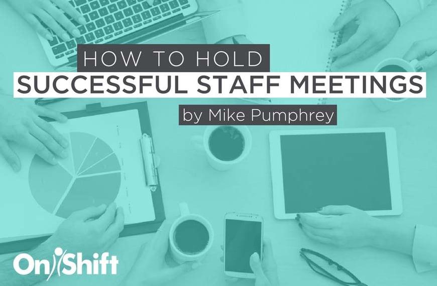 Successful staff meetings in senior care