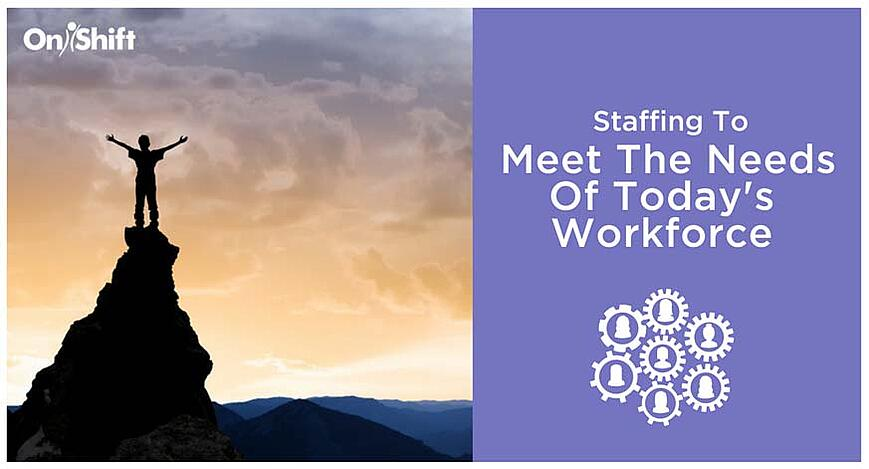 staffing to meet the needs of the senior care workforce