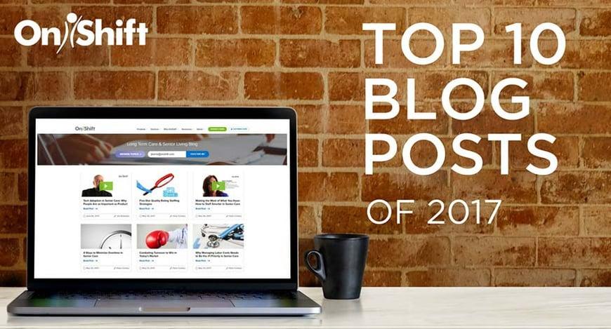 The OnShift Top 10 senior living blog posts for 2017