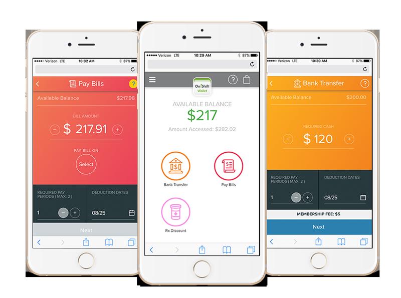 onshift wallet mobile app