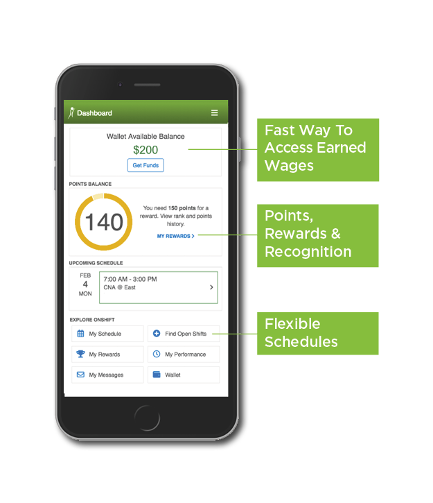 The OnShift Mobile App for Senior Care Employees