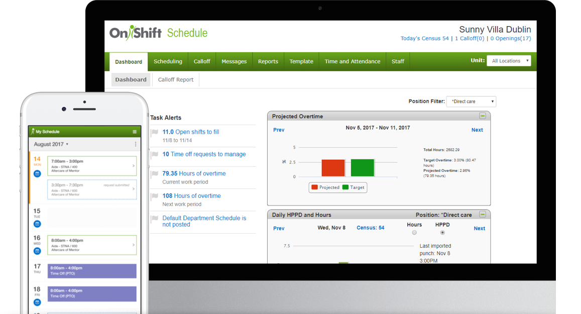 online employee scheduling software for long term care senior living